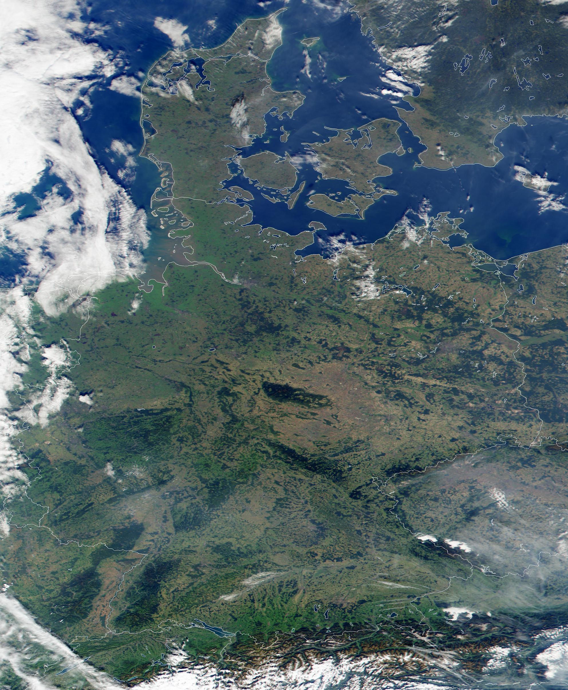 Imagen, Foto Satelite de Alemania