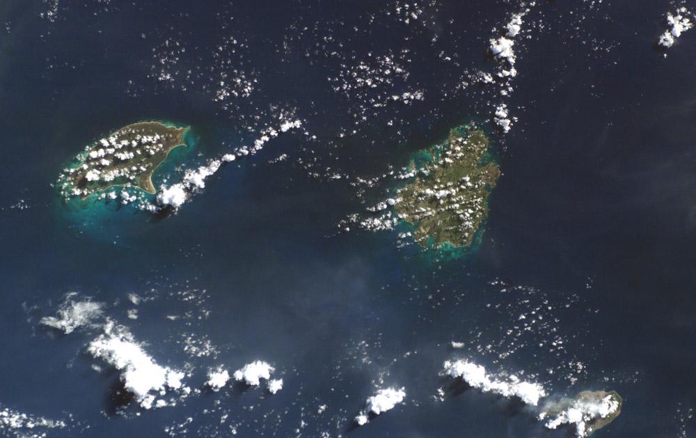 Imagen, Foto Satelite de Antigua y Barbuda