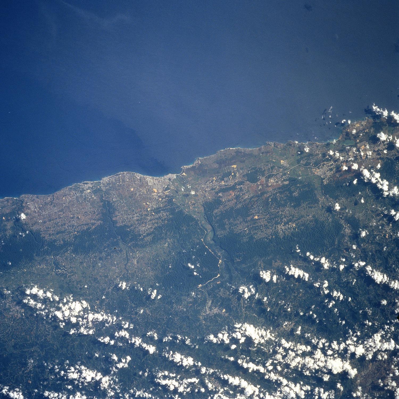 Imagen, Foto Satelite de Arecibo, Puerto Rico