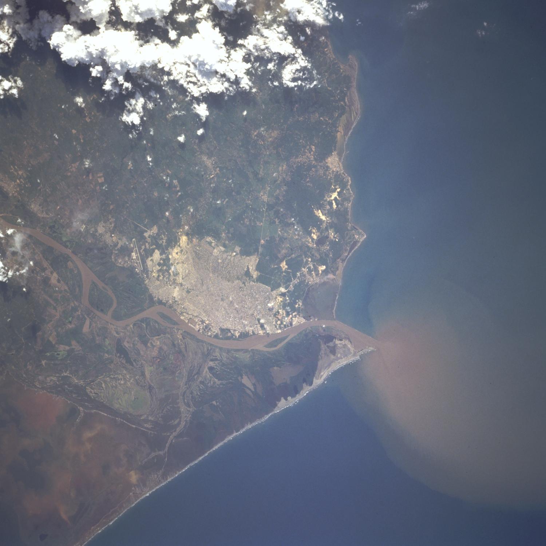 Imagen, Foto Satelite de Barranquilla, Departamento Atlántico, Colombia