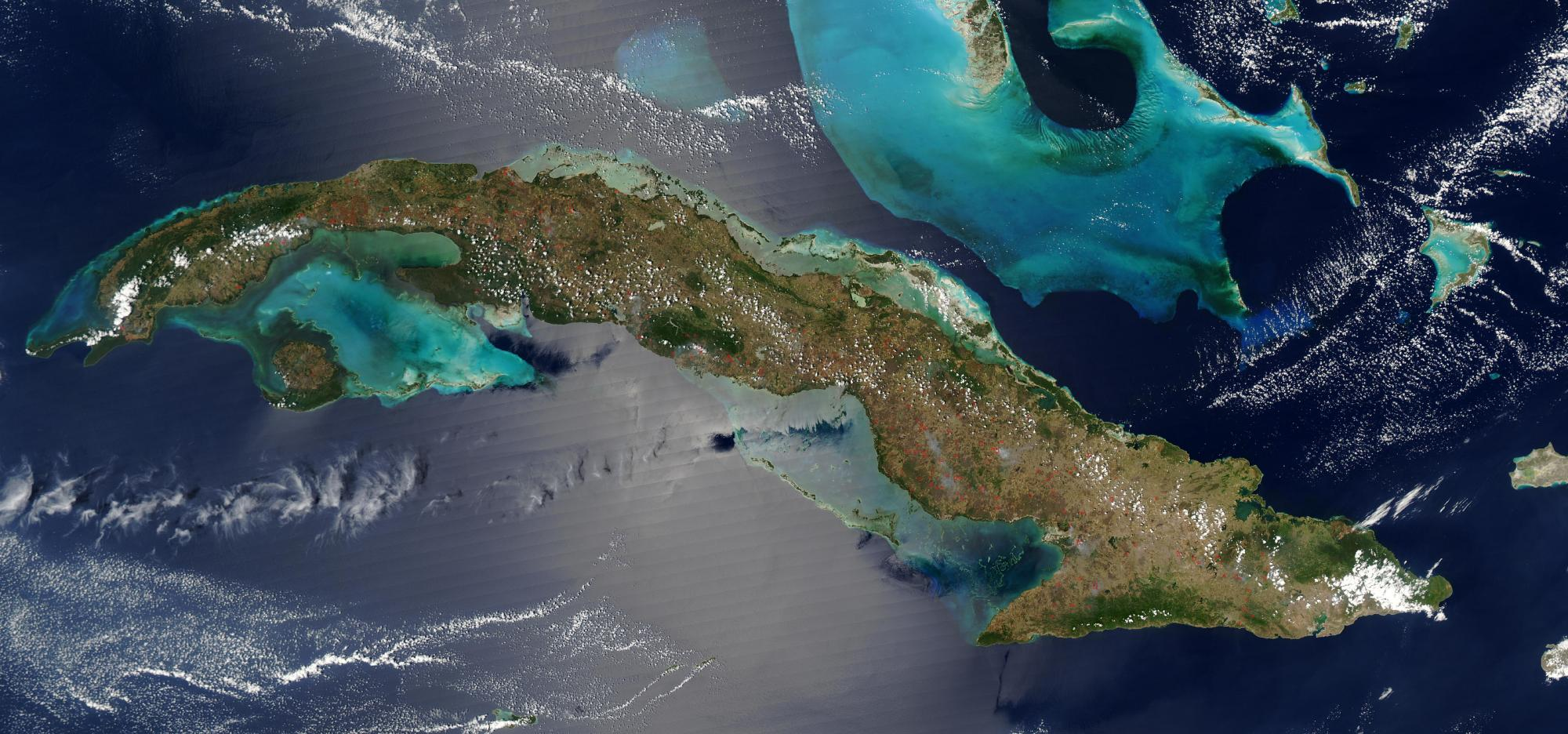Satellite Image, Photo of Cuba