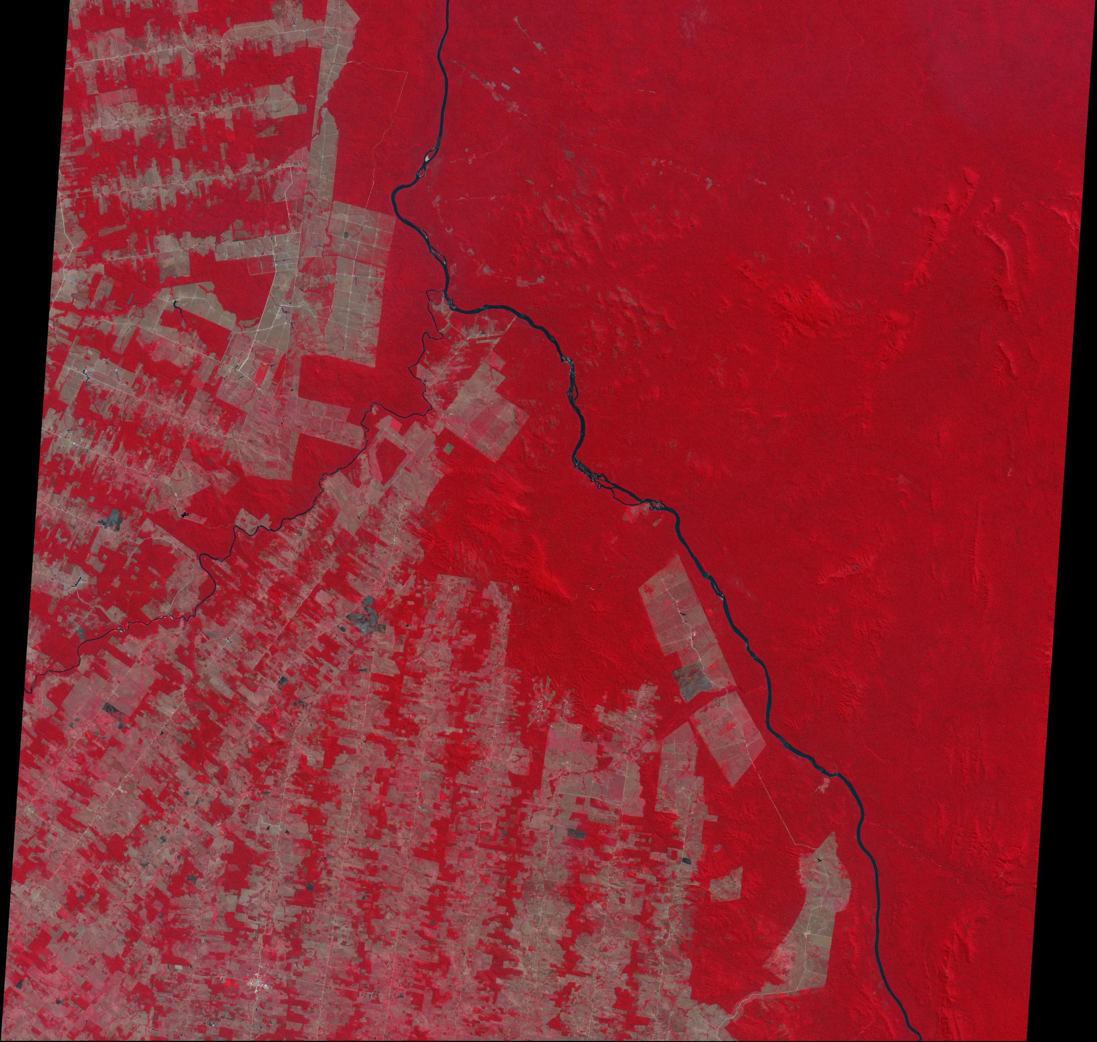 Imagen, Foto Satelite de Deforestación, Estado de Rondonia, Brasil