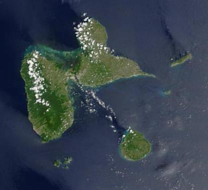 Satellite Image, Photo of Guadeloupe (France)