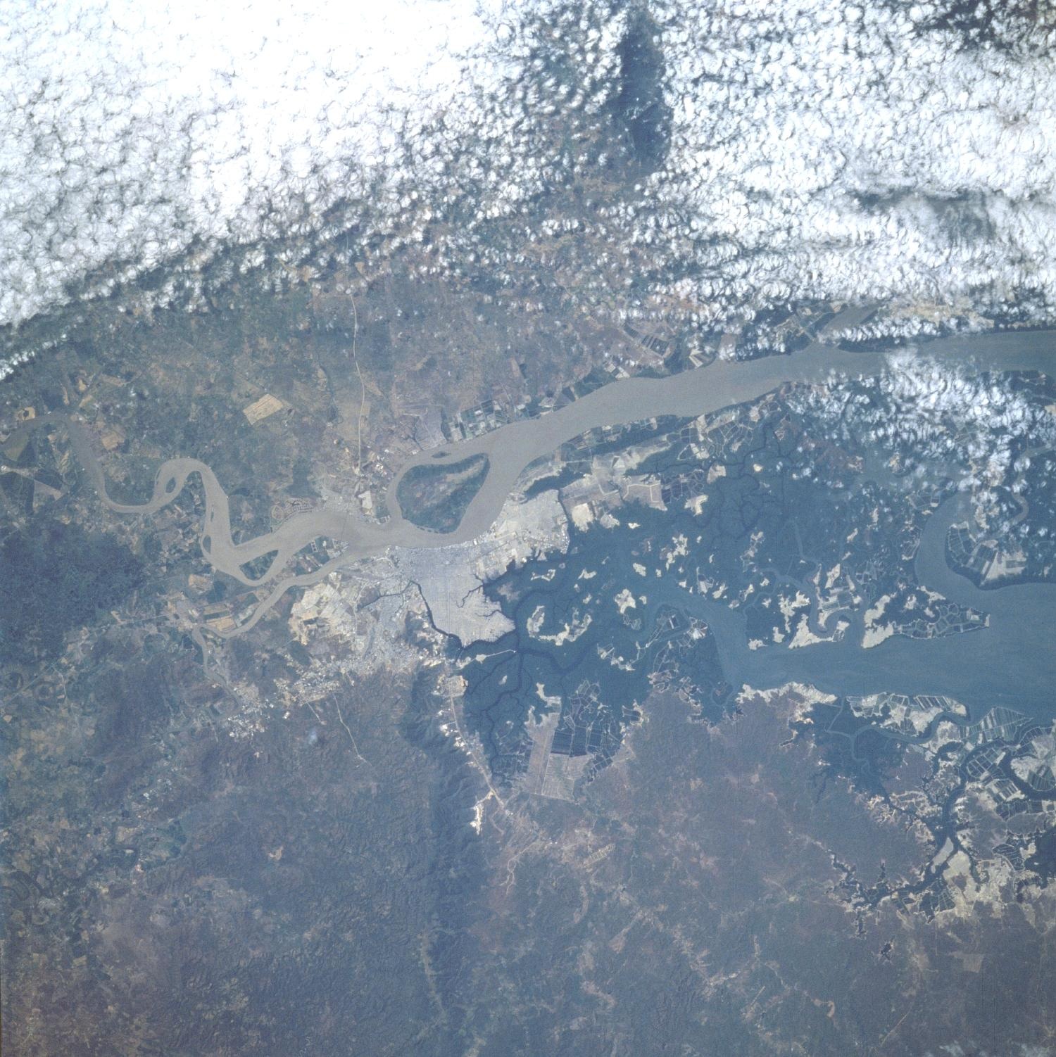 Imagen, Foto Satelite de Guayaquil, Prov. Guayas, Ecuador