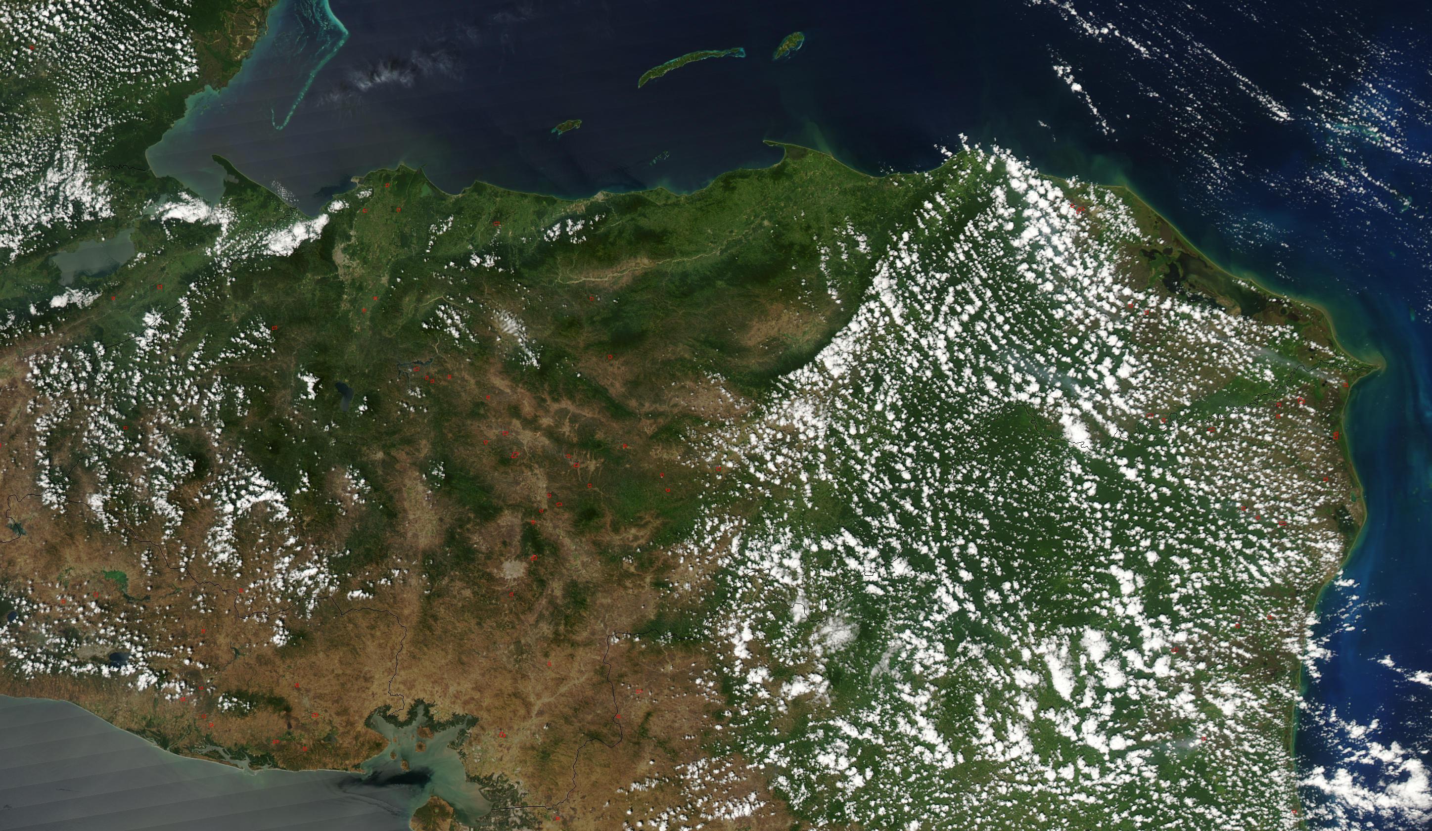 Imagen, Foto Satelite de Honduras