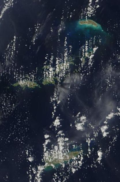 Satellite Image, Photo of the Virgin Islands (U.S & British)