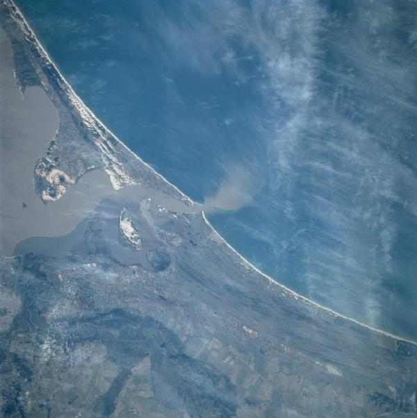 Satellite Image, Photo of Southern Dos Patos Lagoon, Brazil