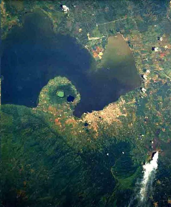 Satellite Image, Photo of Managua, Nicaragua