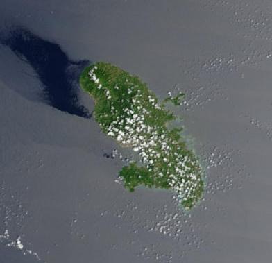Imagen, Foto Satelite de Martinica (Francia)