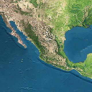 Imagen, Foto Satelite de México