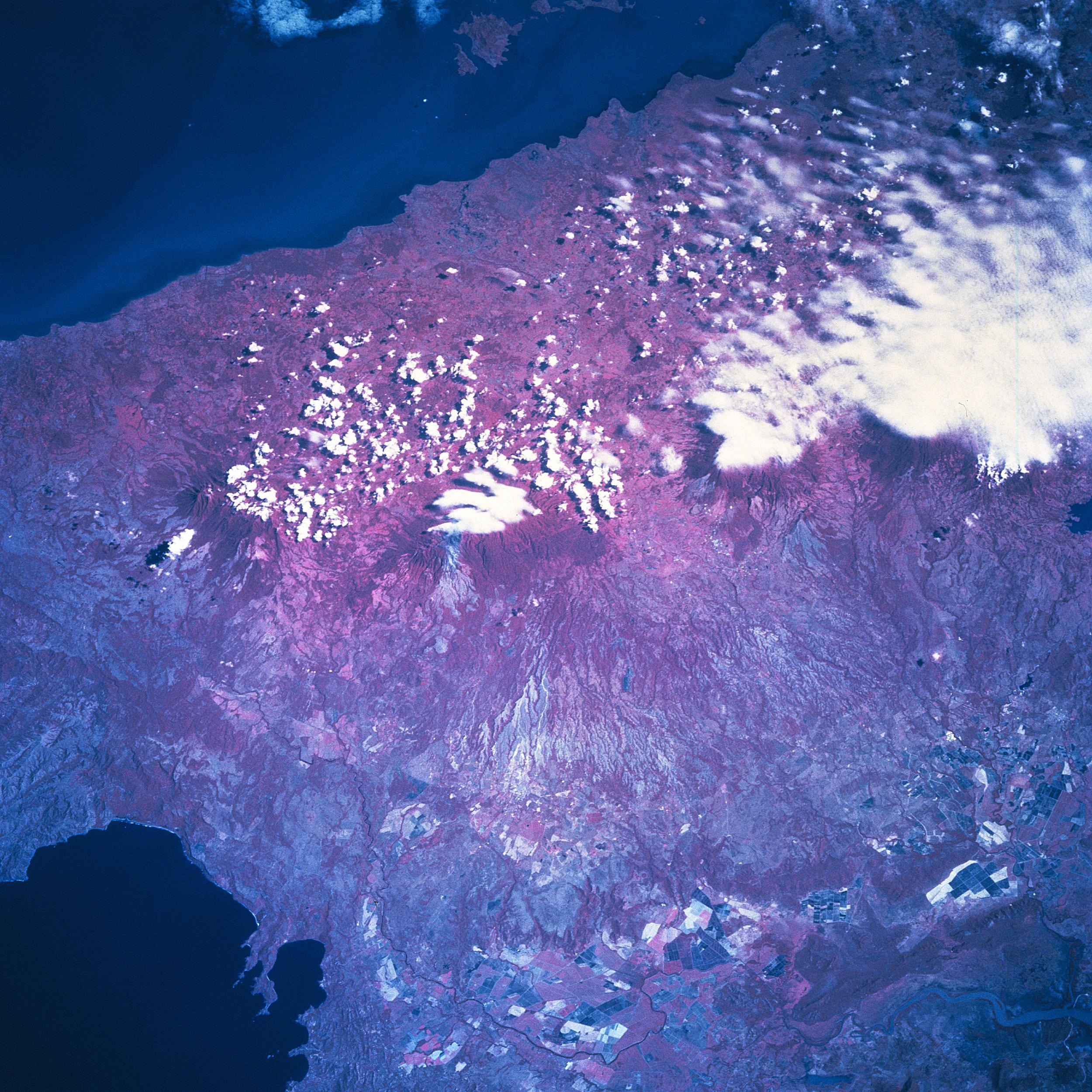 Satellite Image, Photo of Guanacaste Mountains, Costa Rica