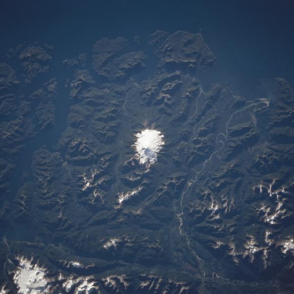Imagen, Foto Satelite de Monte Melimoyu, Chile