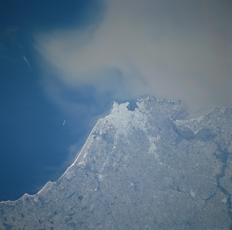 Satellite Image, Photo of Montevideo, Uruguay