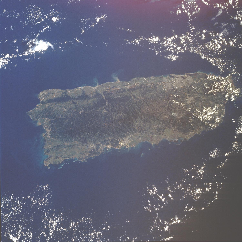 Imagen, Foto Satelite de Puerto Rico