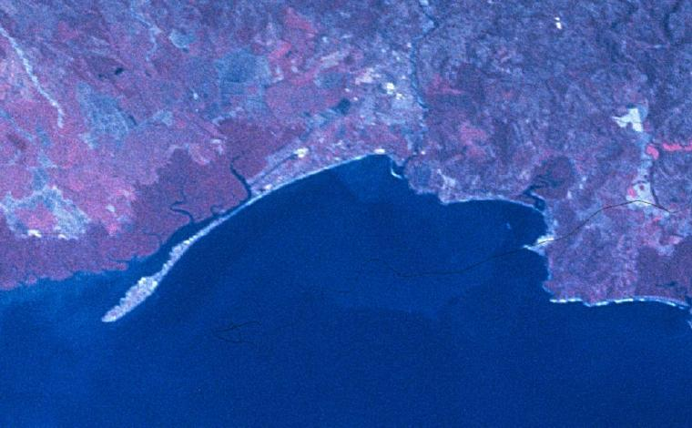 Satellite Image, Photo of Puntarenas, Costa Rica