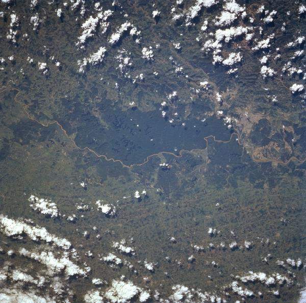 Satellite Image, Photo of Rio Doce, Brazil