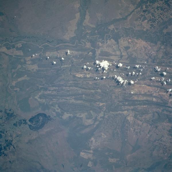 Satellite Image, Photo of Rio Paraguai, Mato Grosso State Brazil