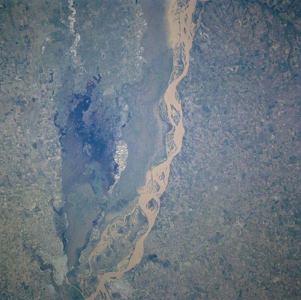 Satellite Image, Photo of Rio Parana, Argentina