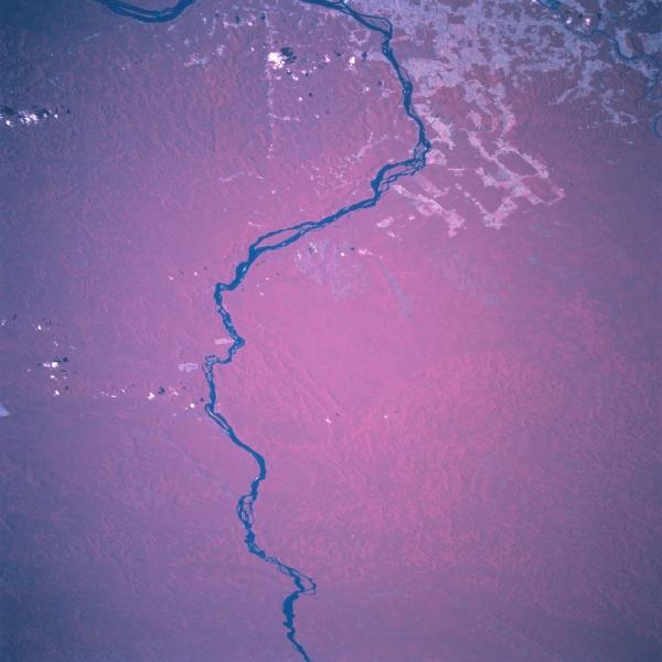 Satellite Image, Photo of Rio Xingu, Para State, Brazil