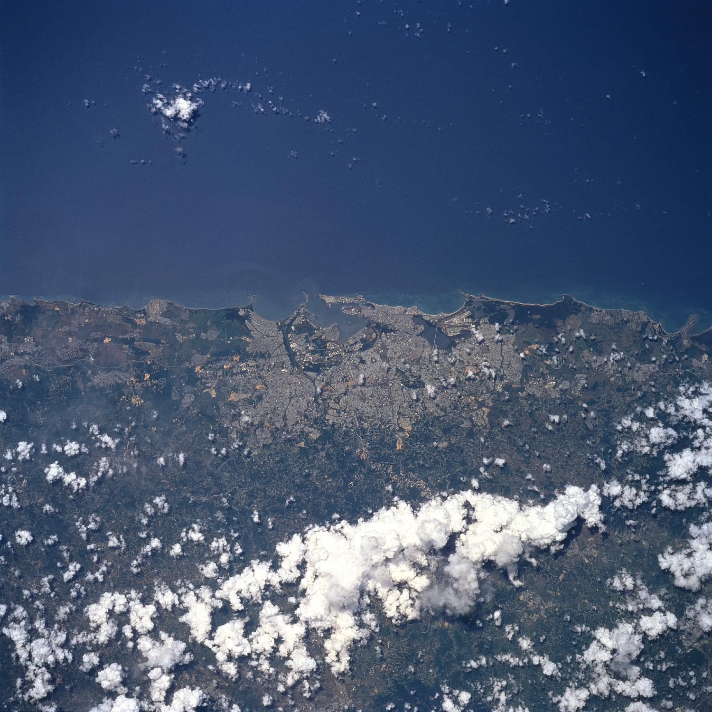 Satellite Image, Photo of San Juan, Puerto Rico