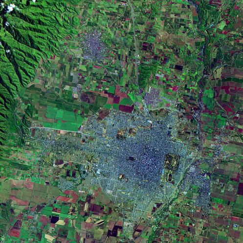 Imagen, Foto Satelite de San Miguel de Tucumán 1, Prov. Tucumán, Argentina