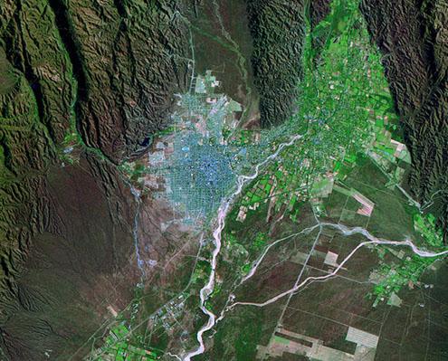 Satellite Image, Photo of La Rioja City, Prov. La Rioja, Argentina