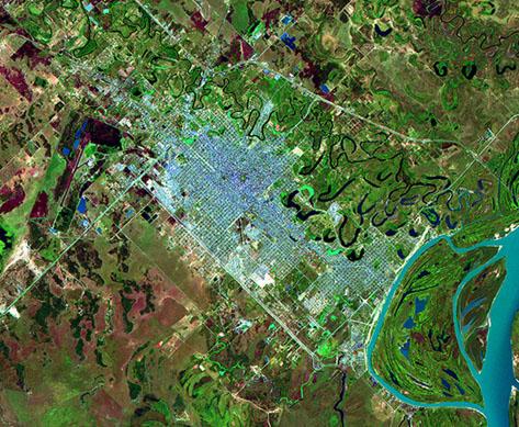 Imagen, Foto Satelite de la Ciudad de Resistencia, Prov. Chaco, Argentina