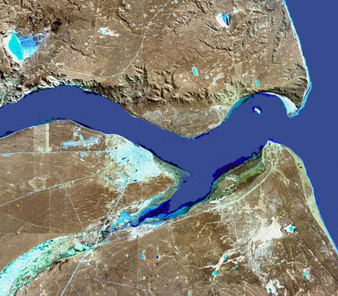 Imagen, Foto Satelite de la Ciudad de Río Gallegos, Prov. Santa Cruz, Argentina