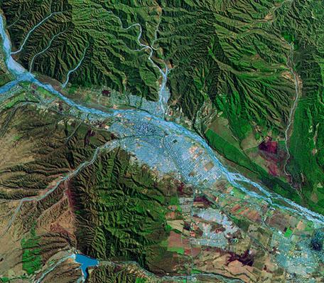 Imagen, Foto Satelite de la Ciudad de San Salvador de Jujuy, Prov. Jujuy, Argentina