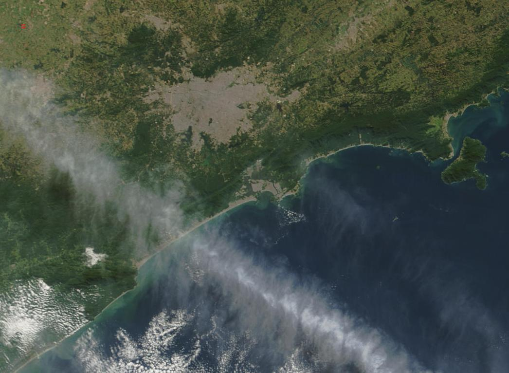 Satellite Image, Photo of Sao Paulo Area, Brazil