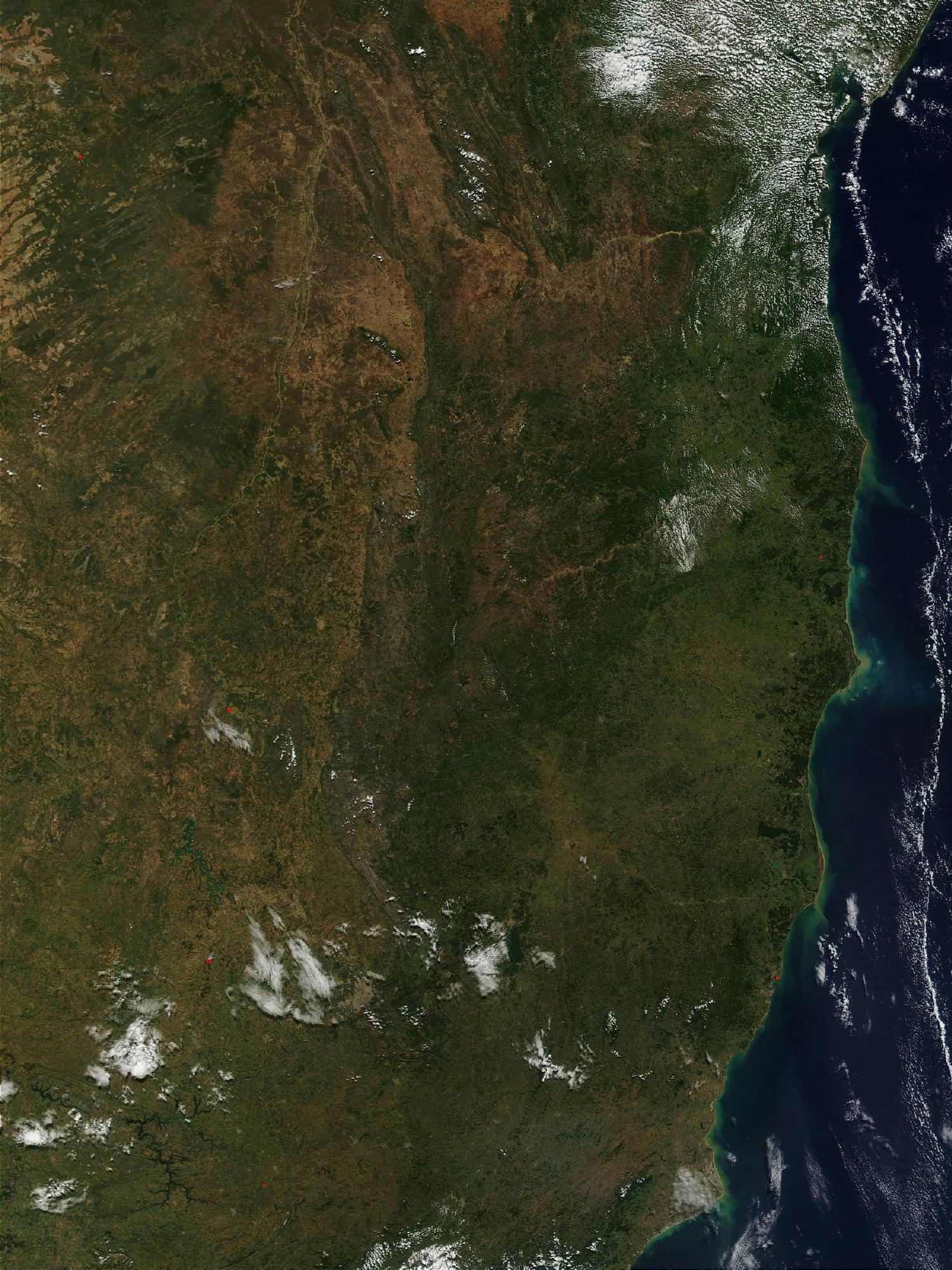 Satellite Image, Photo of Brazil's Eastern Coastline