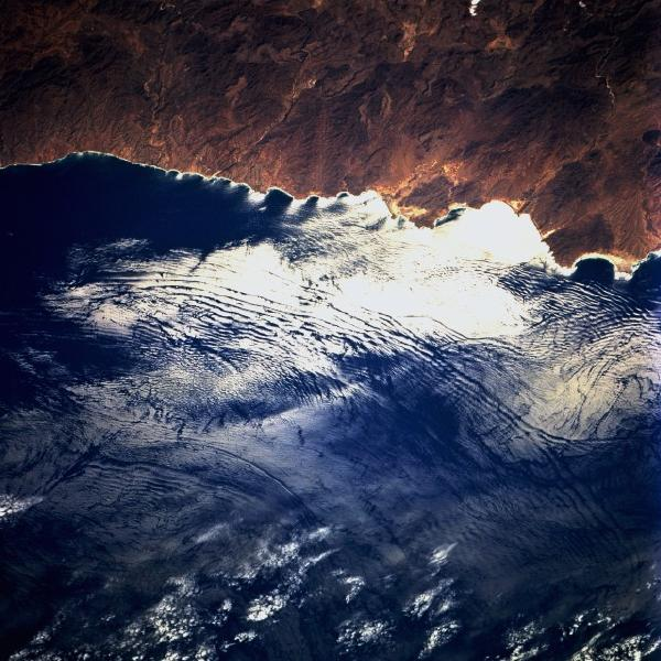 Satellite Image, Photo of Internal Waves, Baja California South, Mexico