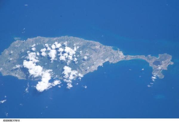 Imagen, Foto Satelite de la Isla San Cristóbal