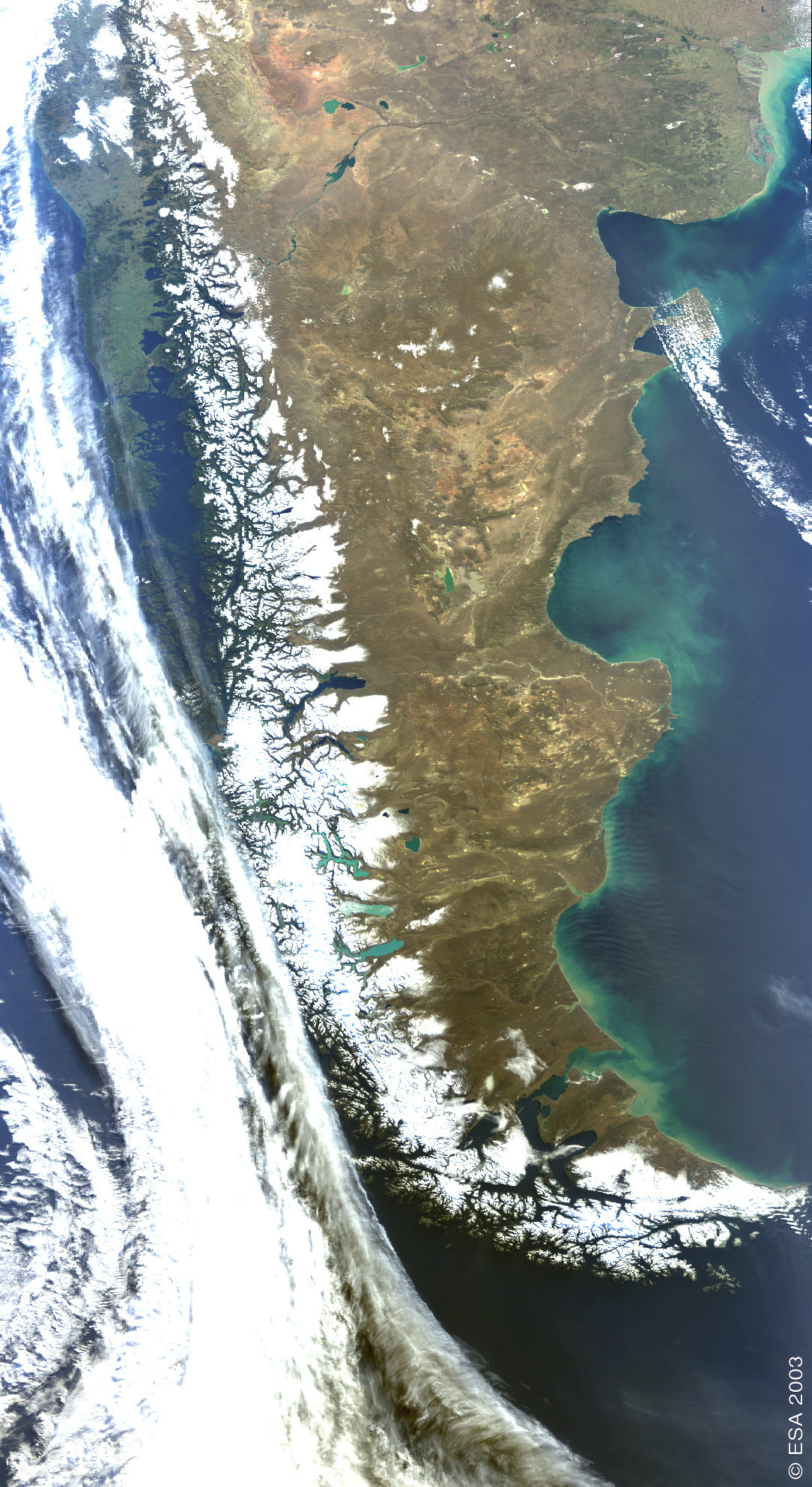 Satellite Image, Photo of Patagonia, Argentina