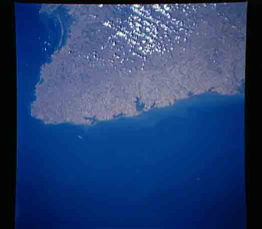Satellite Image, Photo of Azuero Peninsula, Panama