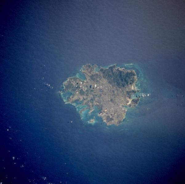 Satellite Photo, Image of Antigua, Leeward Islands (Antigua & Barbuda)
