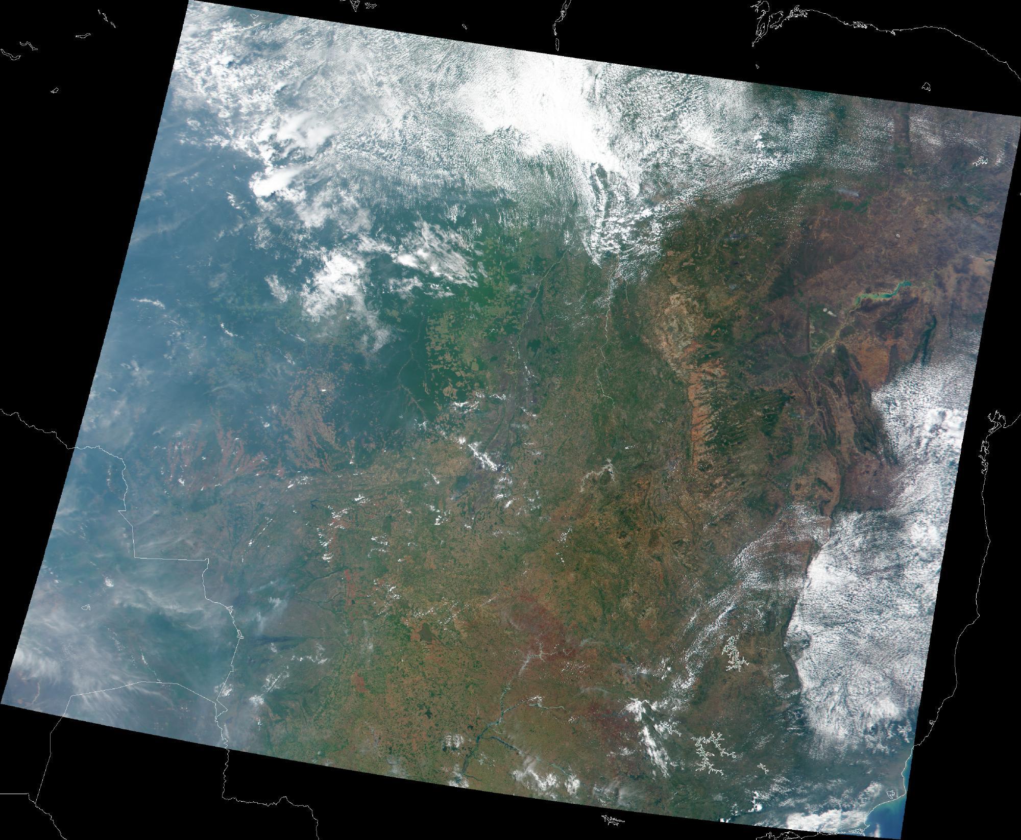 Imagen, Foto Satelite de los Paisajes Diversos de Brasil