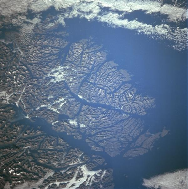 Satellite Image, Photo of Guayaneco Archipelago, Chile