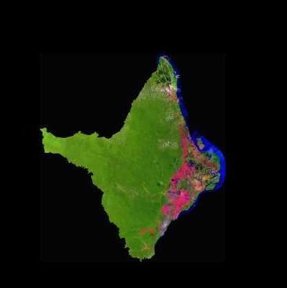 Satellite Image, Photo of Amapá State, Brazil