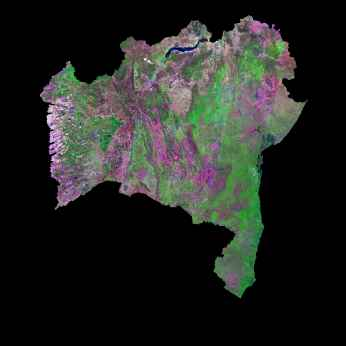 Imagen, Foto Satelite del Estado de Bahia, Brasil