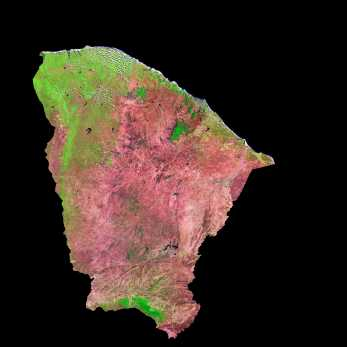 Satellite Image, Photo of Ceará State, Brazil