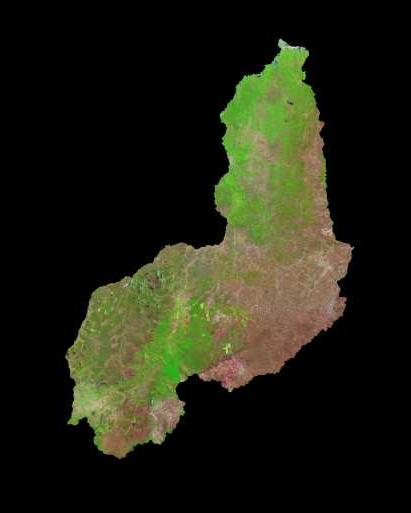 Satellite Image, Photo of Piauí State, Brazil