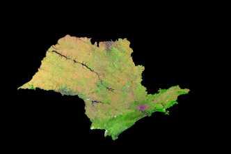 Satellite Image, Photo of São Paulo State, Brazil