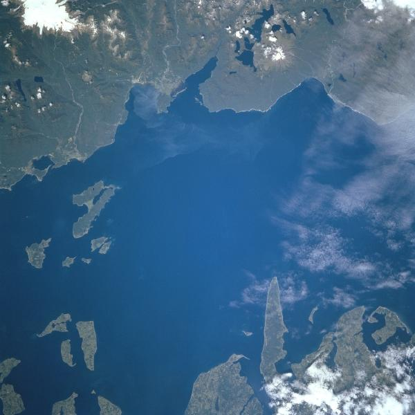 Satellite Image, Photo of Gulf of Corcovado, Chile