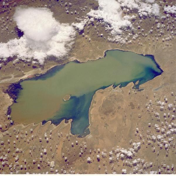 Satellite Image, Photo of Lake Poopo, Bolivia
