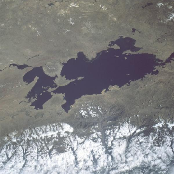 Satellite Image, Photo of Lake Titicaca, Bolivia and Peru