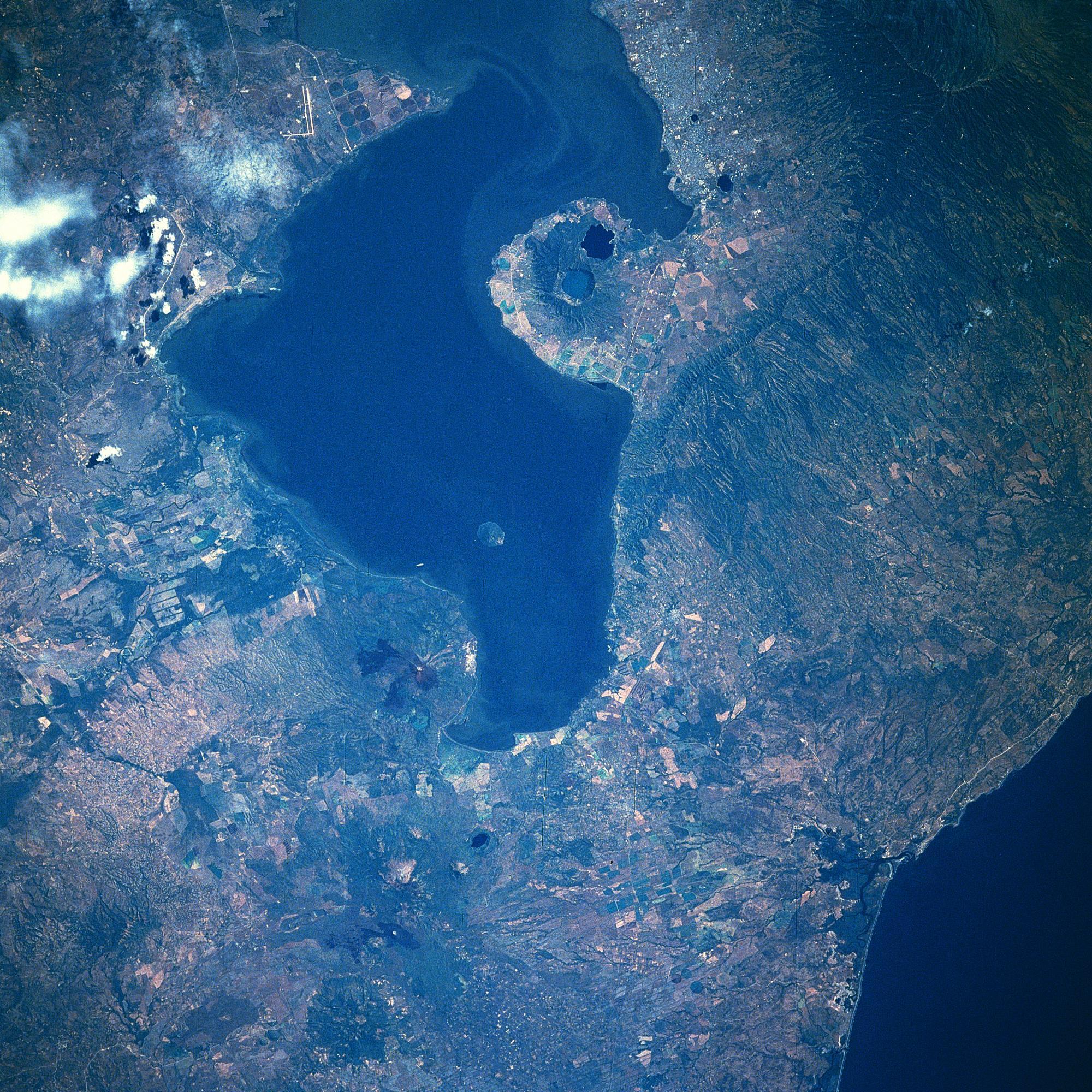 Satellite Image, Photo of Lake Managua, Nicaragua