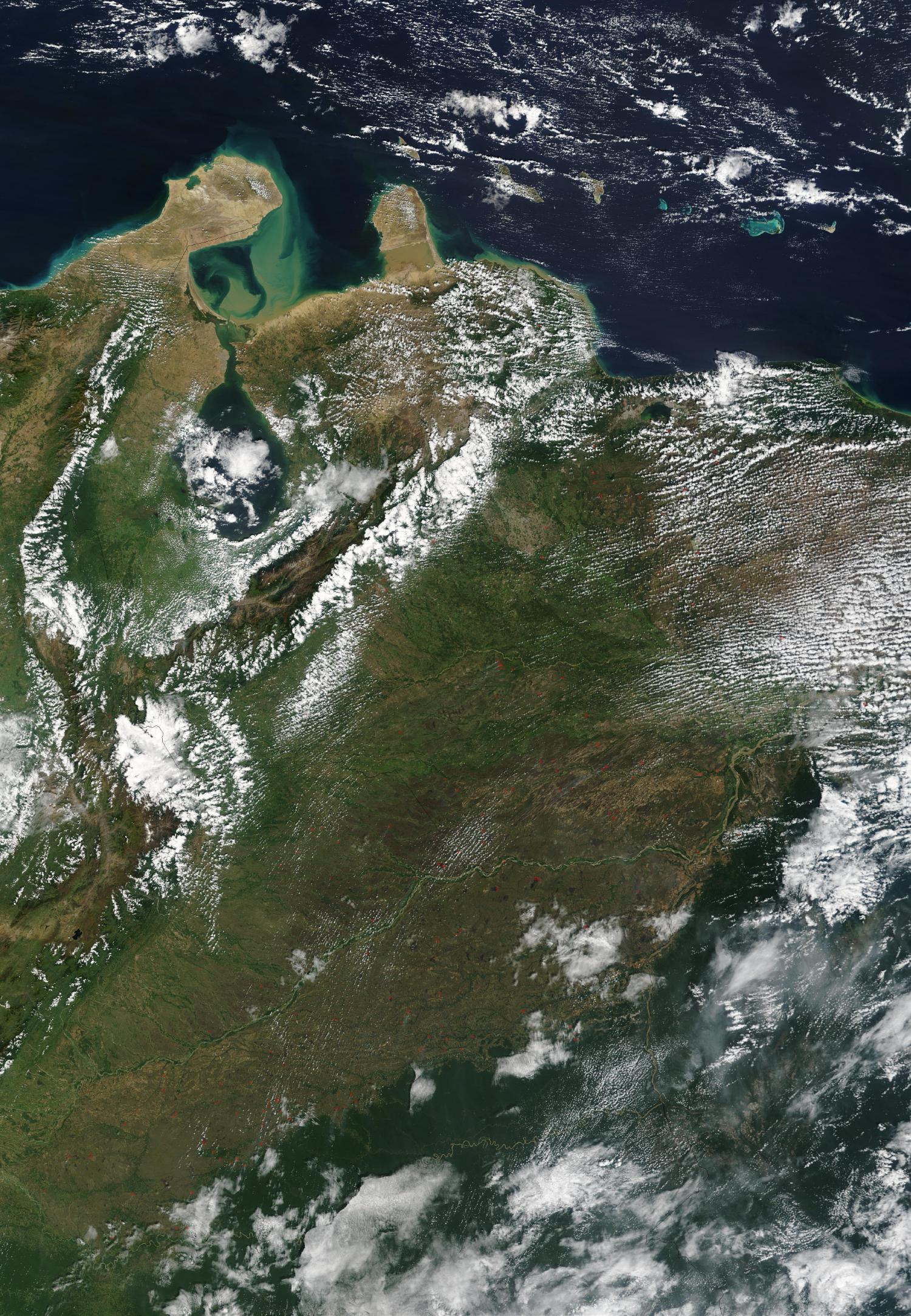 Imagen, Foto Satelite del Noroeste Venezuela