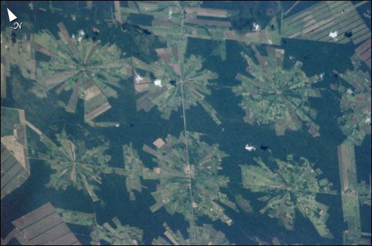 Imagen, Foto Satelite del Proyecto Tierras Bajas, Este de Bolivia