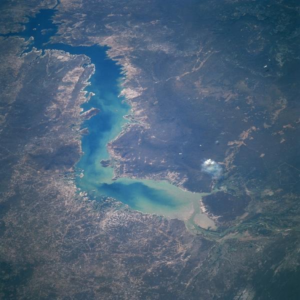 Imagen, Foto Satelite del Reservoir Sobradinho, Bahía, Brasil